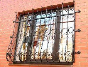 кованые решетки на окна Бронницы